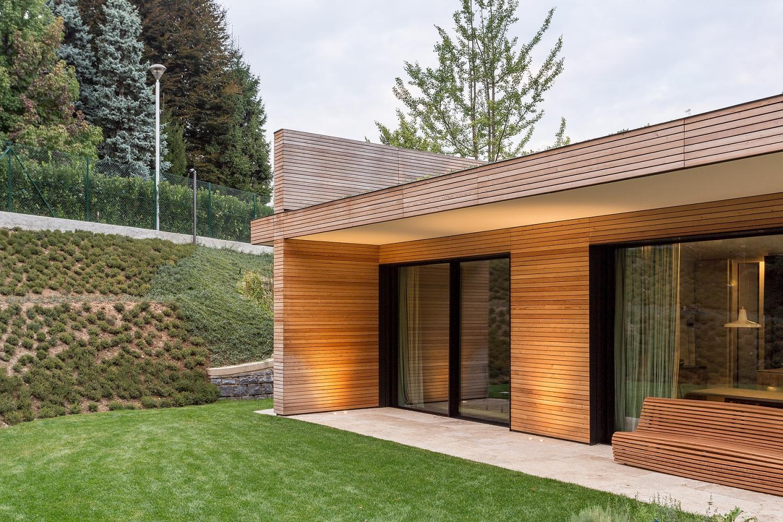 Pareti In Legno Prefabbricate : Villa prefabbricata interamente in legno monza brianza jove