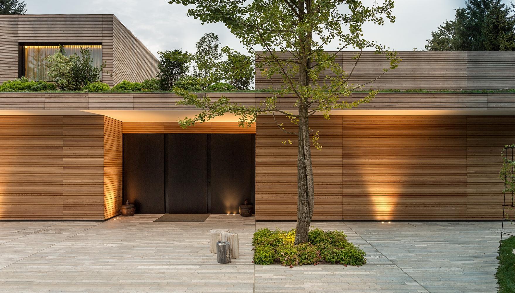 Villa prefabbricata interamente in legno monza brianza - Foto di case moderne esterni ...