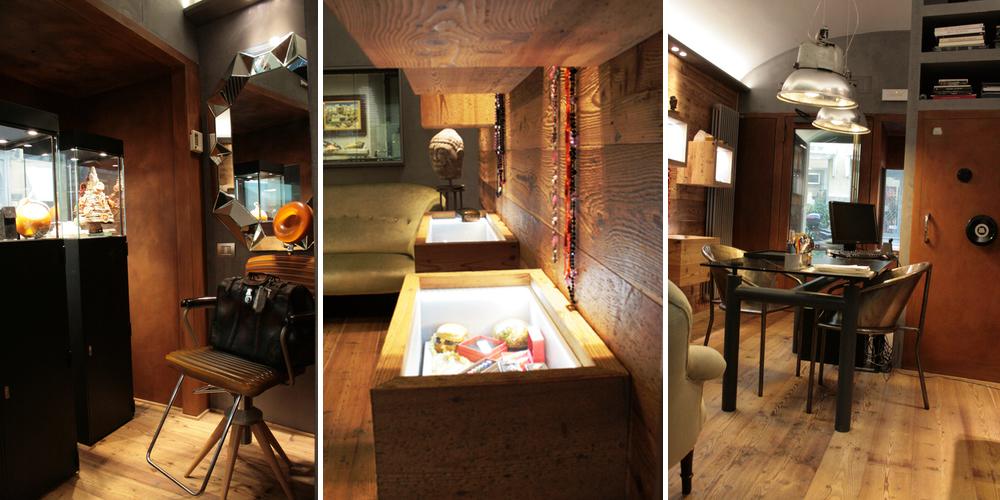 Rivestimento interno con pareti in legno di LARICE  Jove