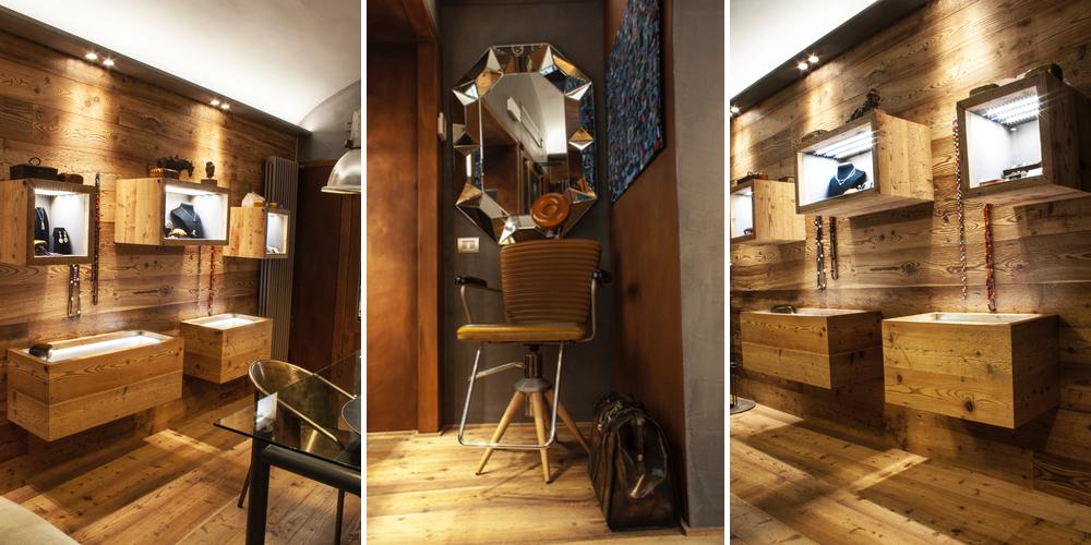 Rivestimento interno con pareti in legno di larice jove for Legno da rivestimento pareti