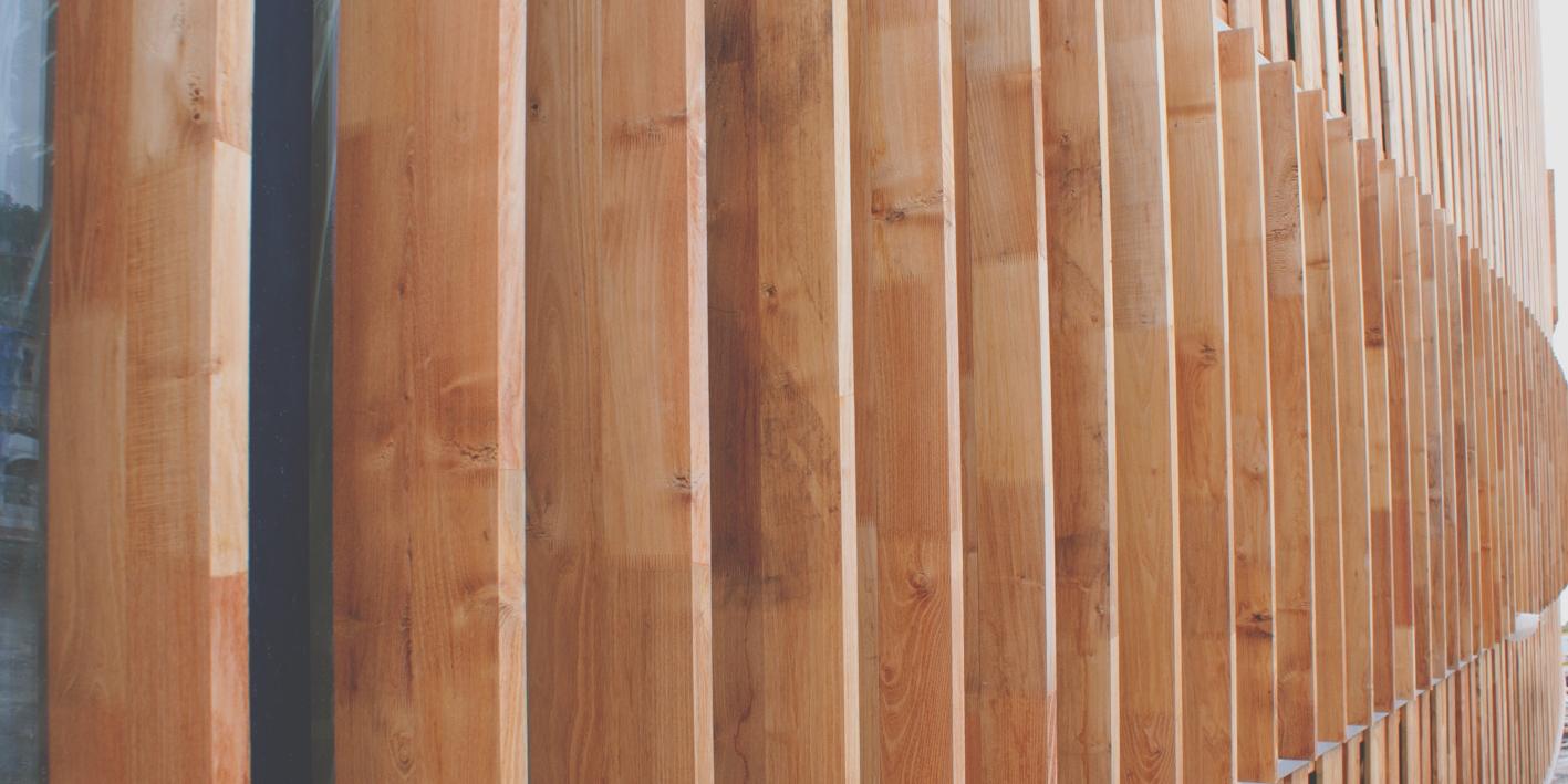 Rivestimento in legno micx progetto di daniel libeskind