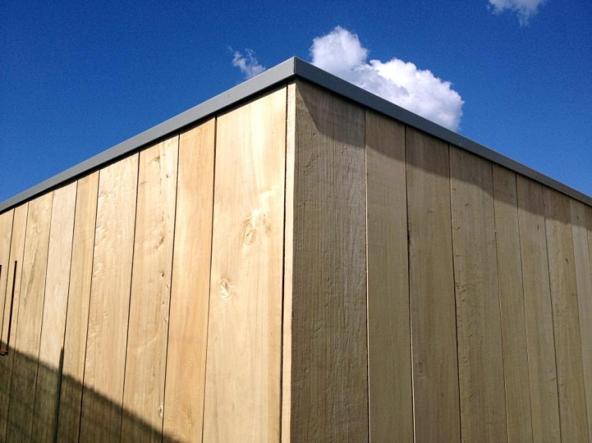 Casa prefabbricata in legno e rivestimento in pioppo  Jove