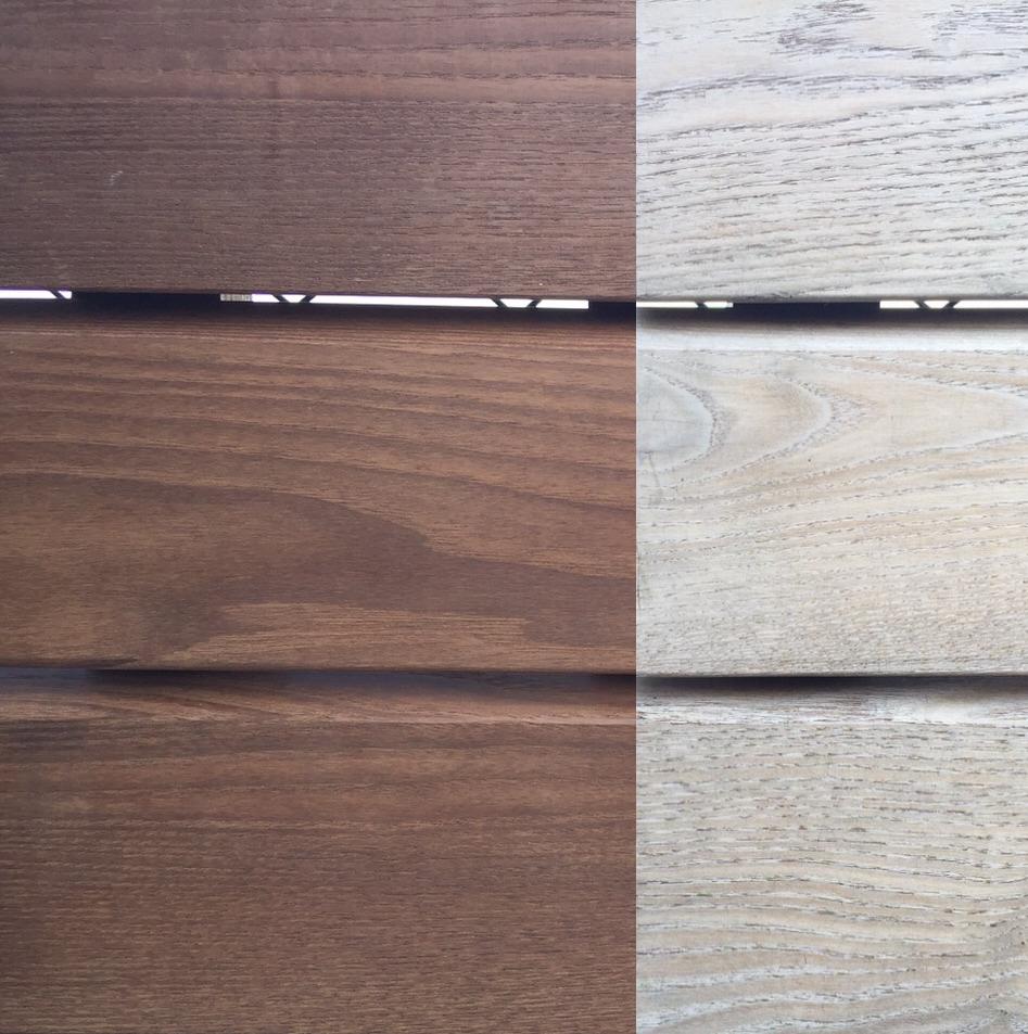 legno termo-trattato frassino termo-trattato ossidazione dopo 6 mesi