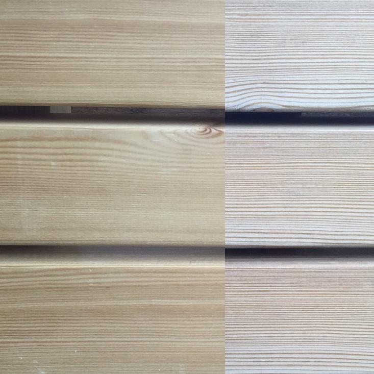 legno naturale larice netto nodi ossidazione dopo 6 mesi
