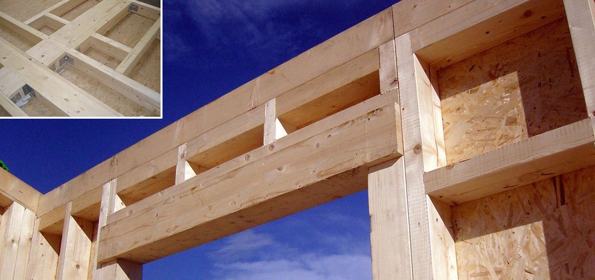 Sistemi costruttivi in legno Platform Frame o a TELAIO - struttura in legno portante per case prefabbricate in legno